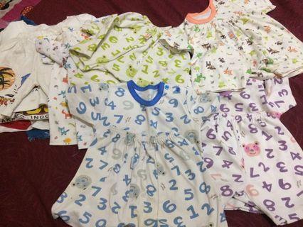 baju bayi baby anak per set atasan bawahan celana pendek jumper bodysuit romper sleepsuit  jumpsuit baby per set velvet junior