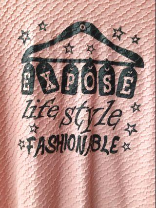 Kaos wanita vintage tunik