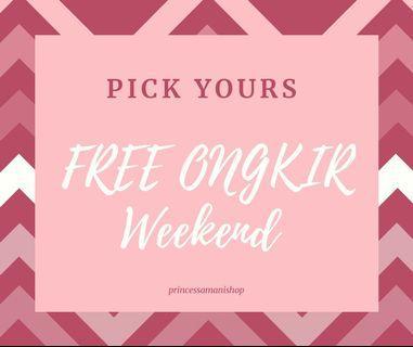 Free ongkir weekend -3nov 2019