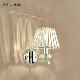 🍀現代簡約水晶床頭壁燈 廊道 通道 電視牆適合 尺寸:22*24公分