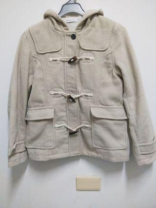 BROWNY米白色象牙釦外套(9成新)