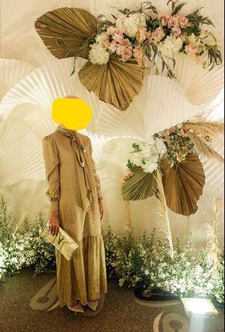 POMELO Gold Dress