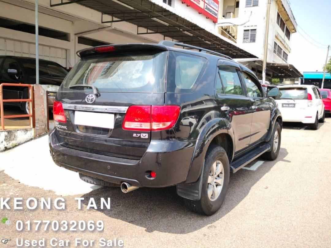 2008TH 🚘TOYOTA FORTUNER 2.7AT V 4×4TipTop PETROL🎉7Seater Suv Cash💰OfferPrice💲Rm40,500 Only‼LowestPrice InJB‼Call📲 Keong For More🤗