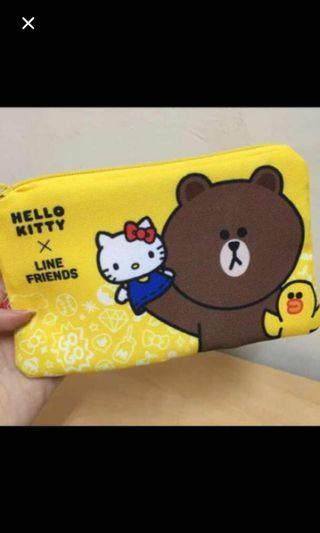 Hello kitty * Line friends 化妝袋