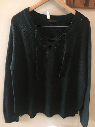 Knitted sweater large
