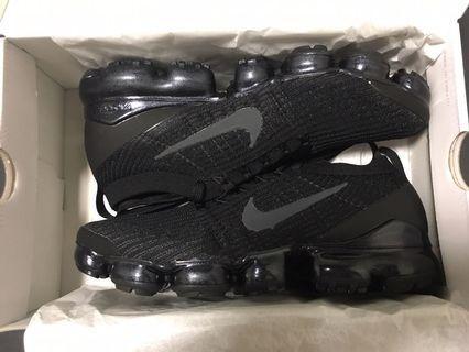 Nike air vapormax flyknit 3 全黑 黑魂 US10 全新正品
