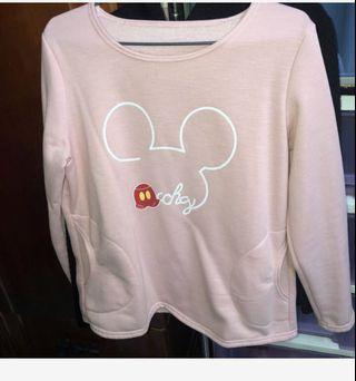 二手 米奇 鋪棉上衣(粉色) $60
