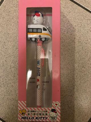 新太魯閣Hello kitty列車迴力車自動鉛筆