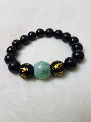 黑玛瑙,黑曜石手串&璐璐通bracelet