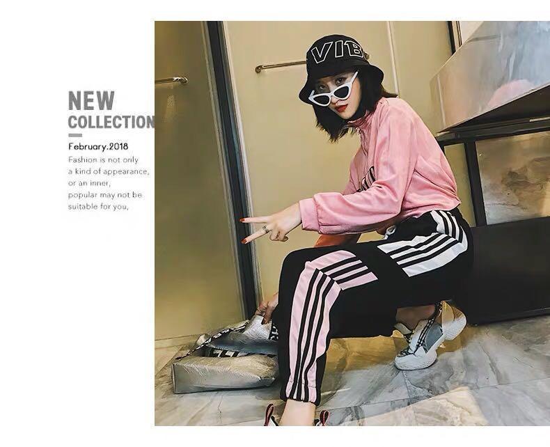 [2col] Korean Ulzzang Side Stripe Jogger Pants