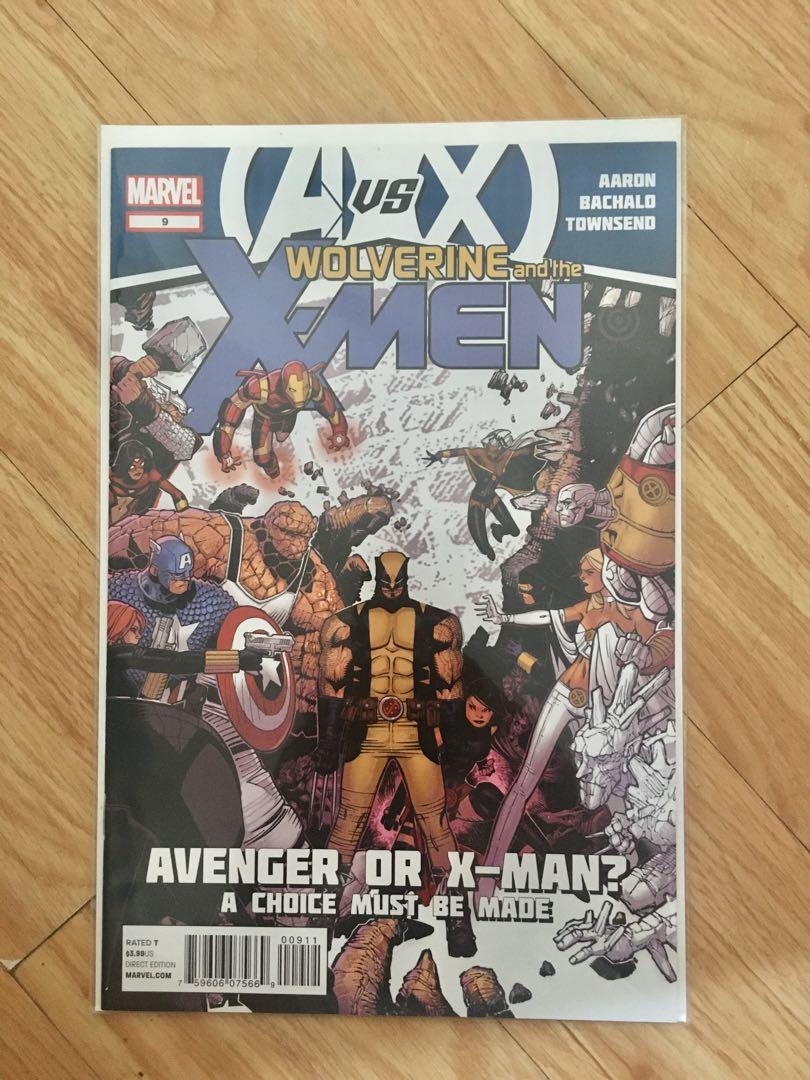 😊 ( 7 comics ) Avengers VS X-Men: Wolverine and the X-Men # 9 - 15 First print 2012 (all unopened, unread)