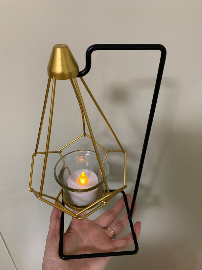 婚後物資 全新幾何燭台 送電子蠟燭