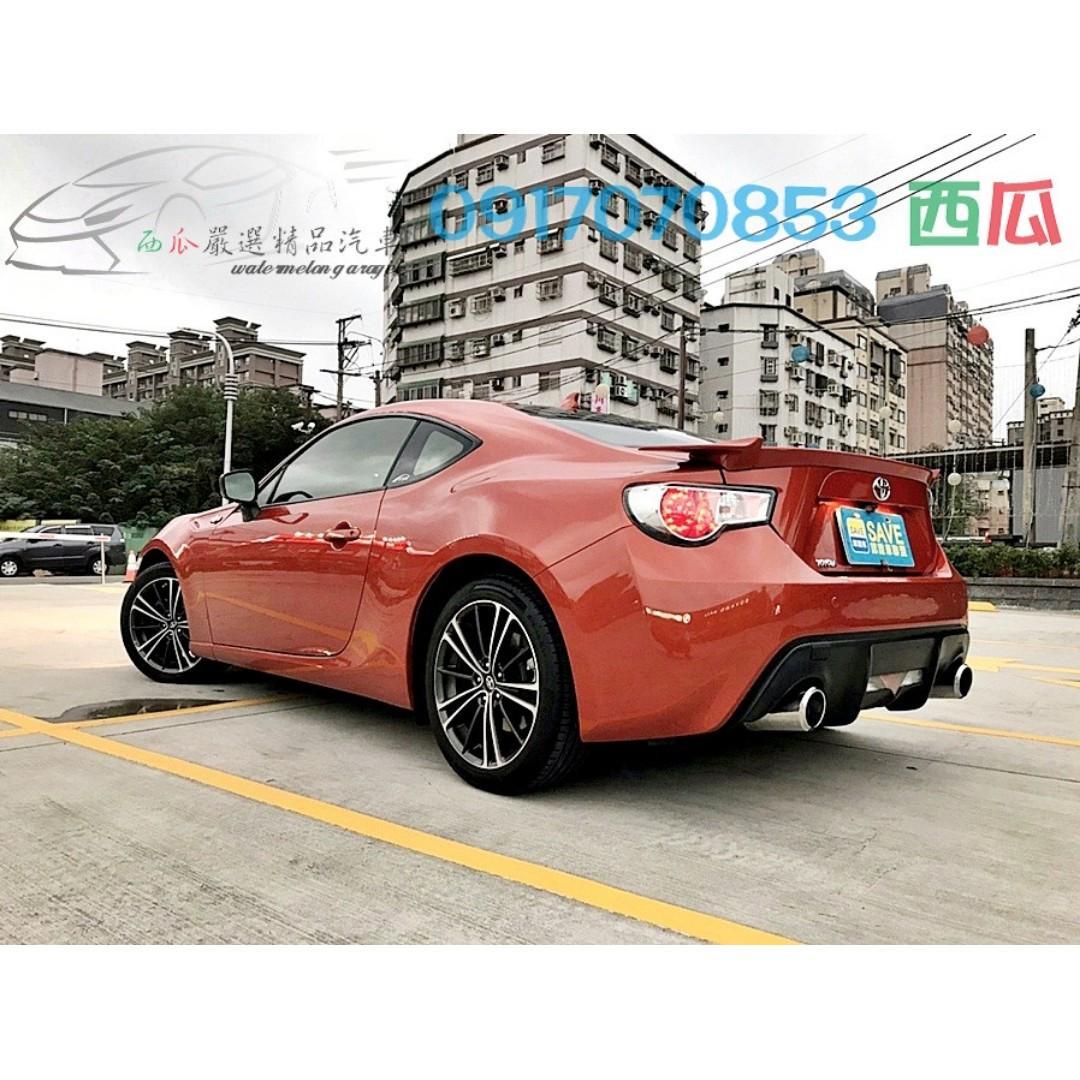 市場超缺車種 有喜歡快來電預約 2013年 TOYOTA FT 86 雙前座電熱椅 HID頭燈 有認證!