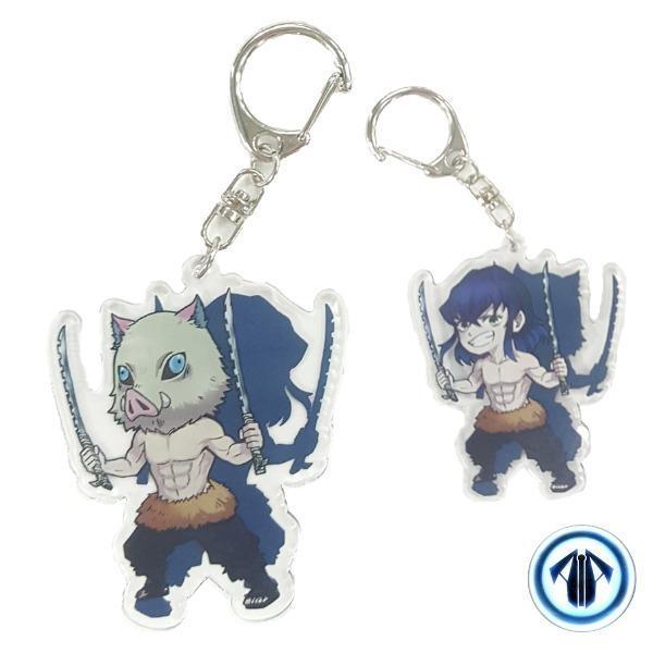 Anime keychains: Inosuke (Demon Slayer: Kimetsu No Yaiba)