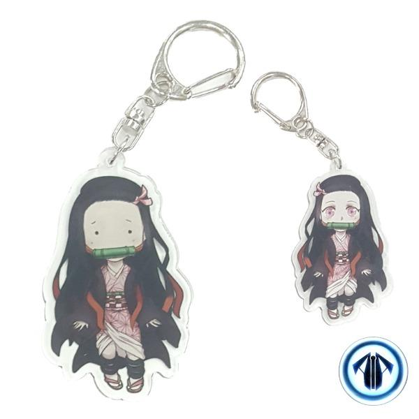 Anime keychains: Nezuko (Demon Slayer: Kimetsu No Yaiba)