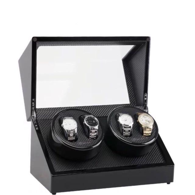 *Promo* BNIB Automatic Classic Watch Winder Wood Box (Piano black) for four (4) watches winding