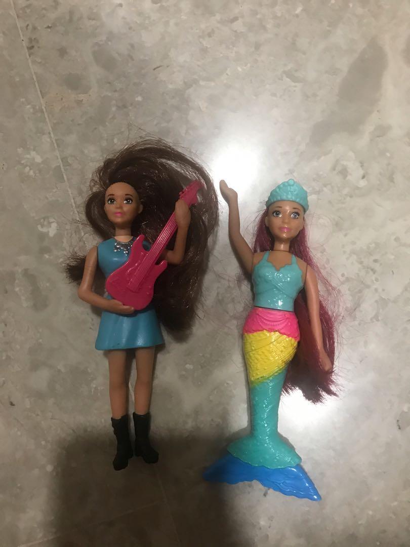 Barbie guitarist and Barbie mermaid