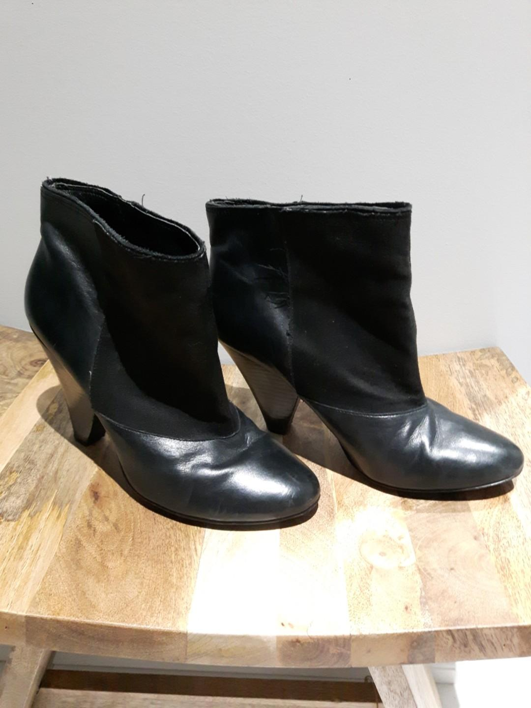 LOWERED: Black AnKle Booties (wide ankle/leg) Size 8