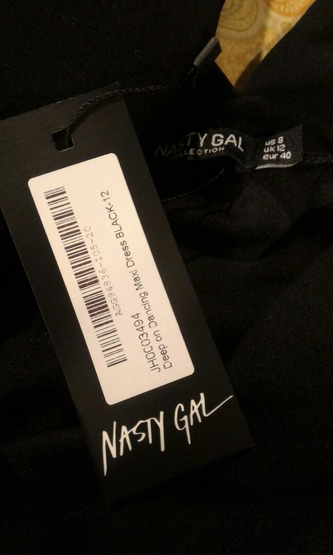 Black dress size 8 nasty gal