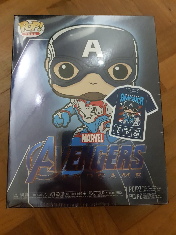 Funko Pop Endgame Avengers 4 Iron Man GITD /& T-Shirt Box Set