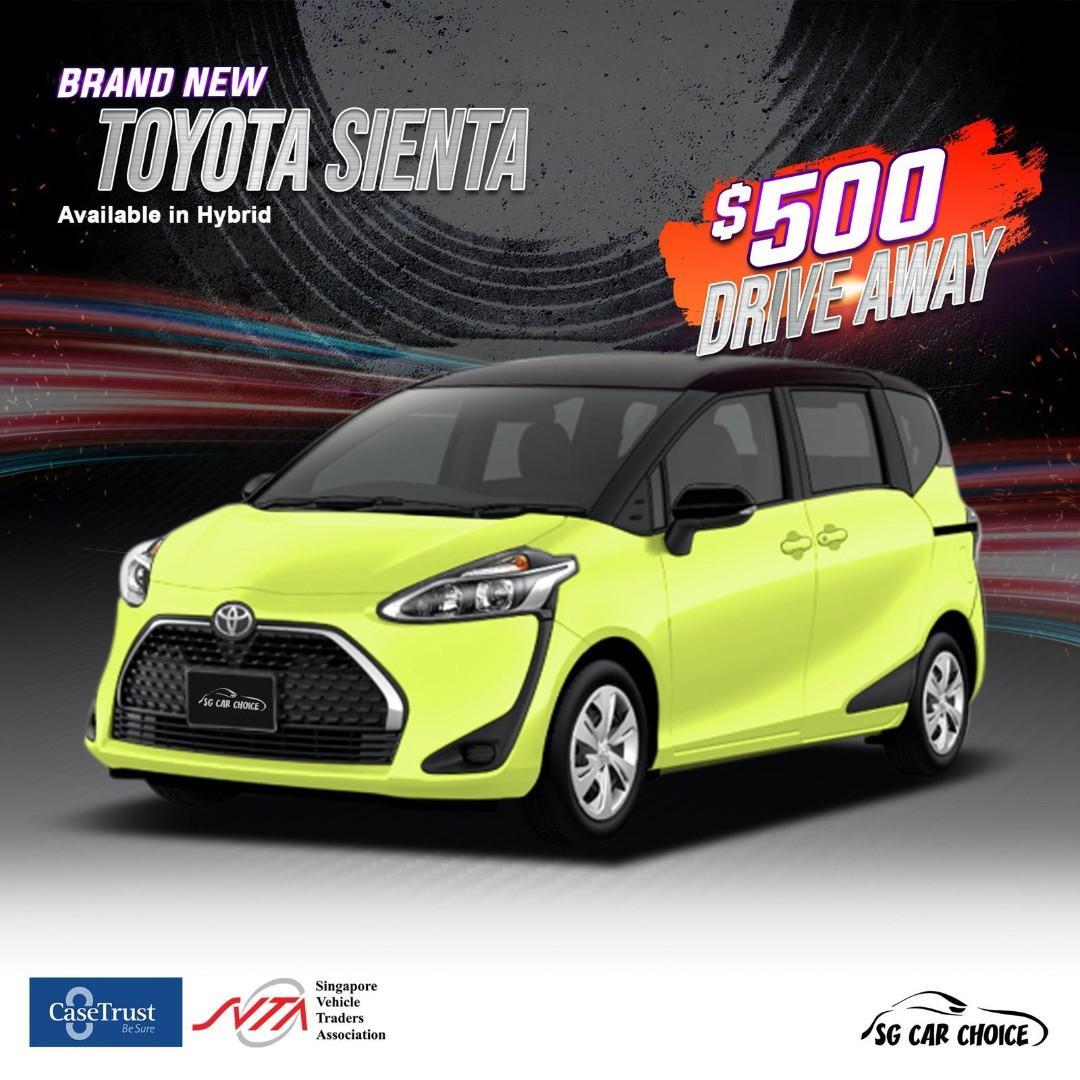 Toyota sienta hybrid for rent, Cheap Mpv for rental