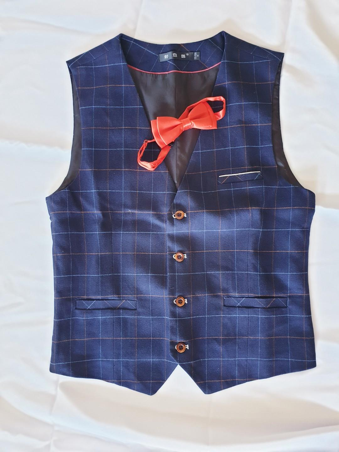 Checkered Vest European Styled Classy Thick Quality