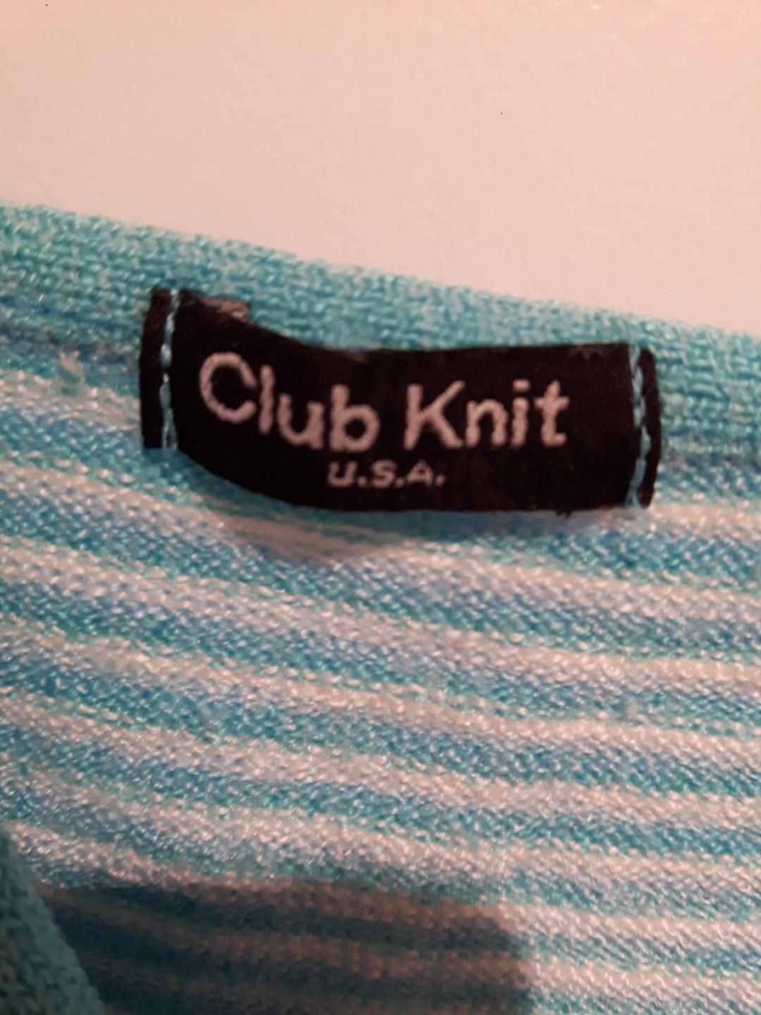 Club knit U.S.A Striped knit stop spaghetti strap Size Small