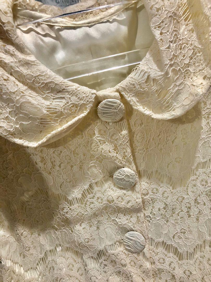 Dress/outer brokat broken white