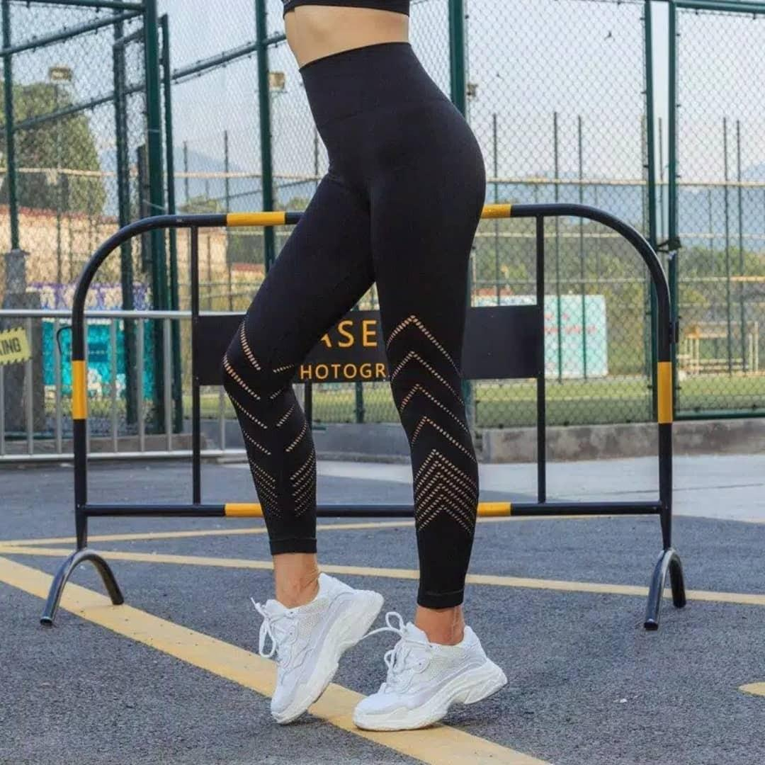 #FUM5 Celana Legging Wanita Model High-Waist