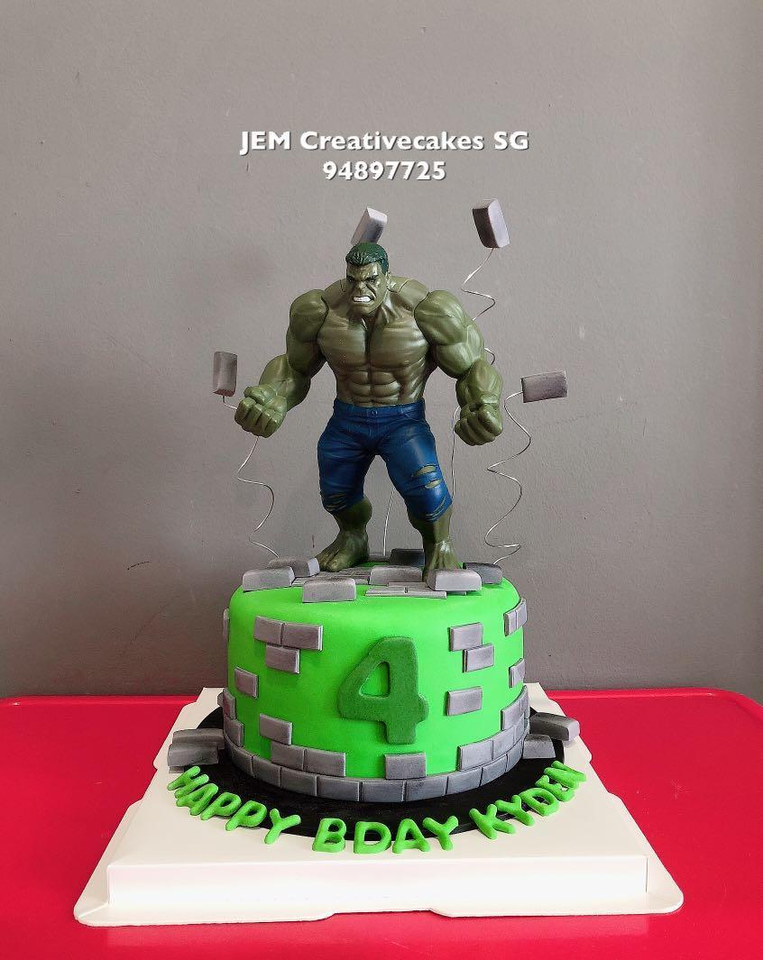 Stupendous Hulk Birthday Cake Food Drinks Baked Goods On Carousell Funny Birthday Cards Online Alyptdamsfinfo
