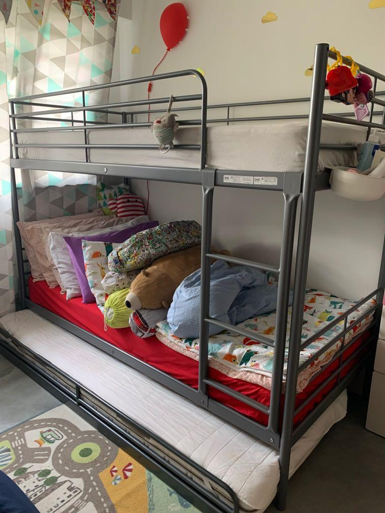 Ikea Bunk Bed With Pull Out Furniture Beds Mattresses On Carousell