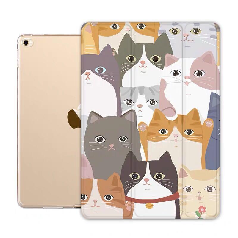 🙆🏻♀️全新~喵星人滿滿iPad case保護套(支架式、休眠套)