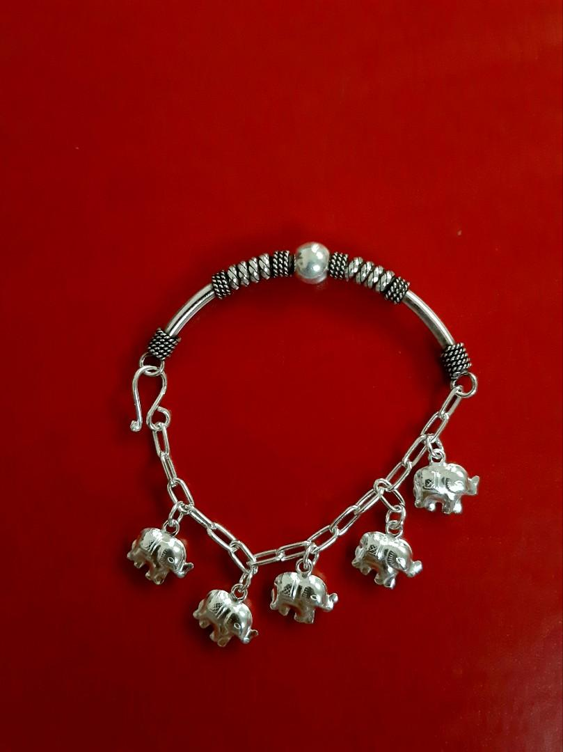 itaiean Unique bracelet. elephant bracelet | 92.5 Silver made | wedding engagement gift for her.