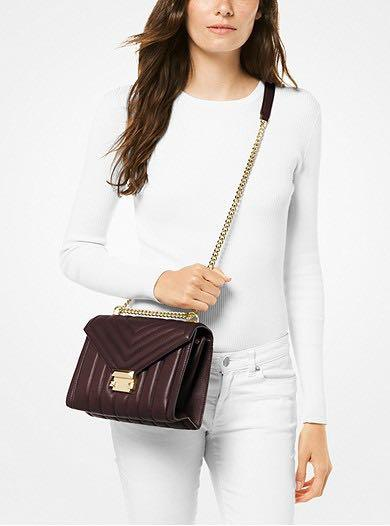 MICHAEL KORS LARGE QUILTED LEATHER CONVERTIBLE SHOULDER BAG