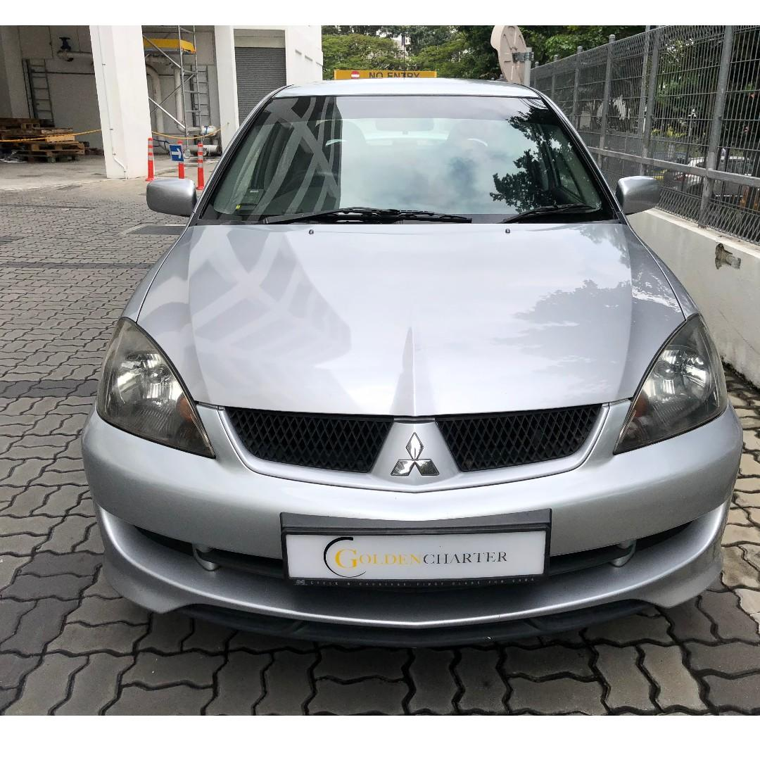 Mitsubishi Lancer GLX For Rental. Weekly Rental Rebate Available, Gojek Grab Ryde Tada Personal can enquire with us