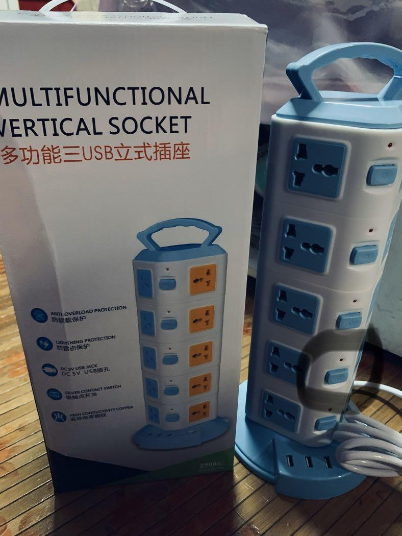 Multifunctional Vertical Socket