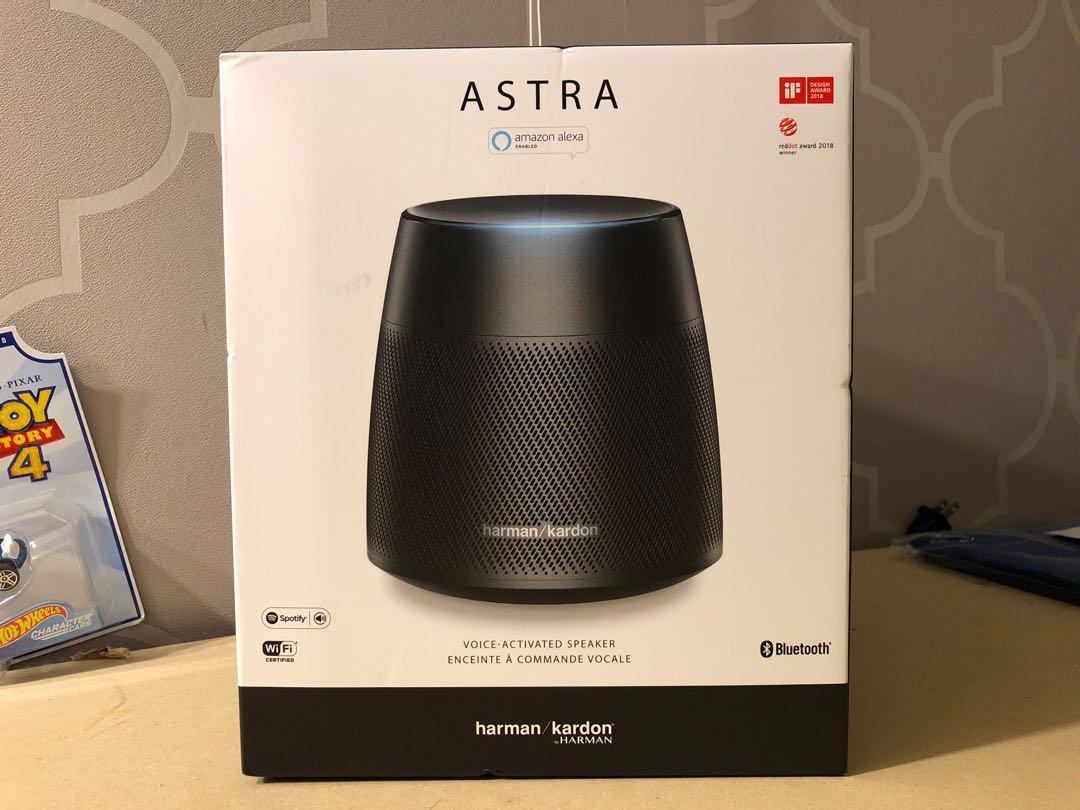 New Harmon Kardon Astra Bluetooth Speaker With Alexa Functionality