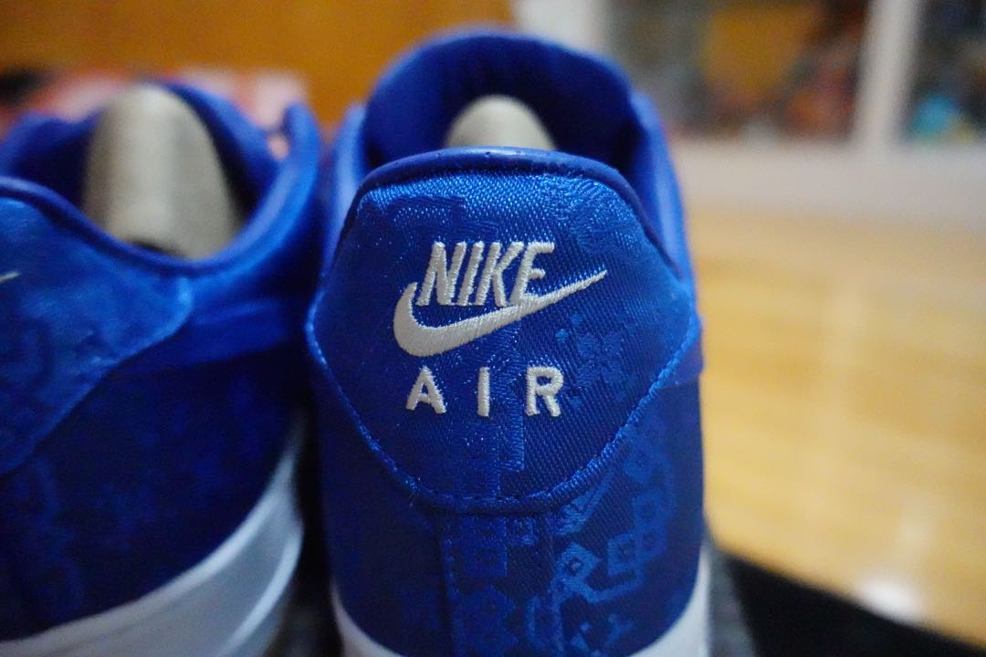 NIKE Air Force 1 LOW CLOT BLUE SILK藍絲綢