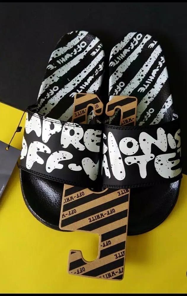 Off white slip on slipeers sandal sendal bukan zara