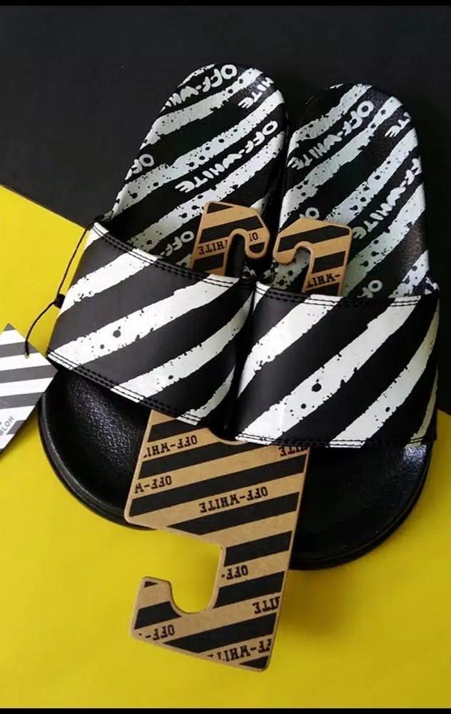 Off white slip on slippers sandal sendal bukan zara