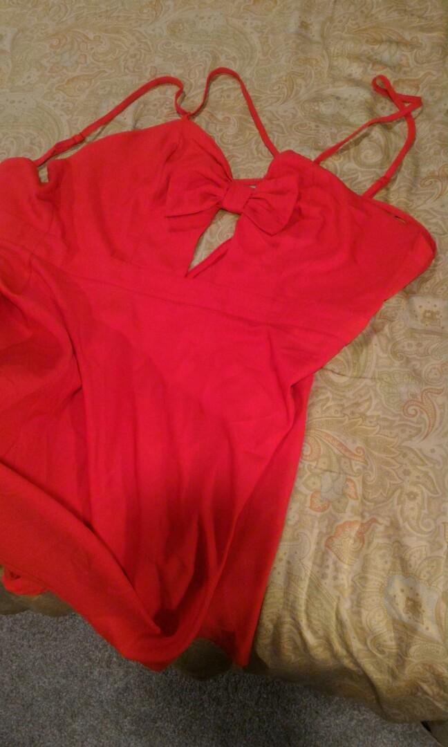 Red glamorous dress Large