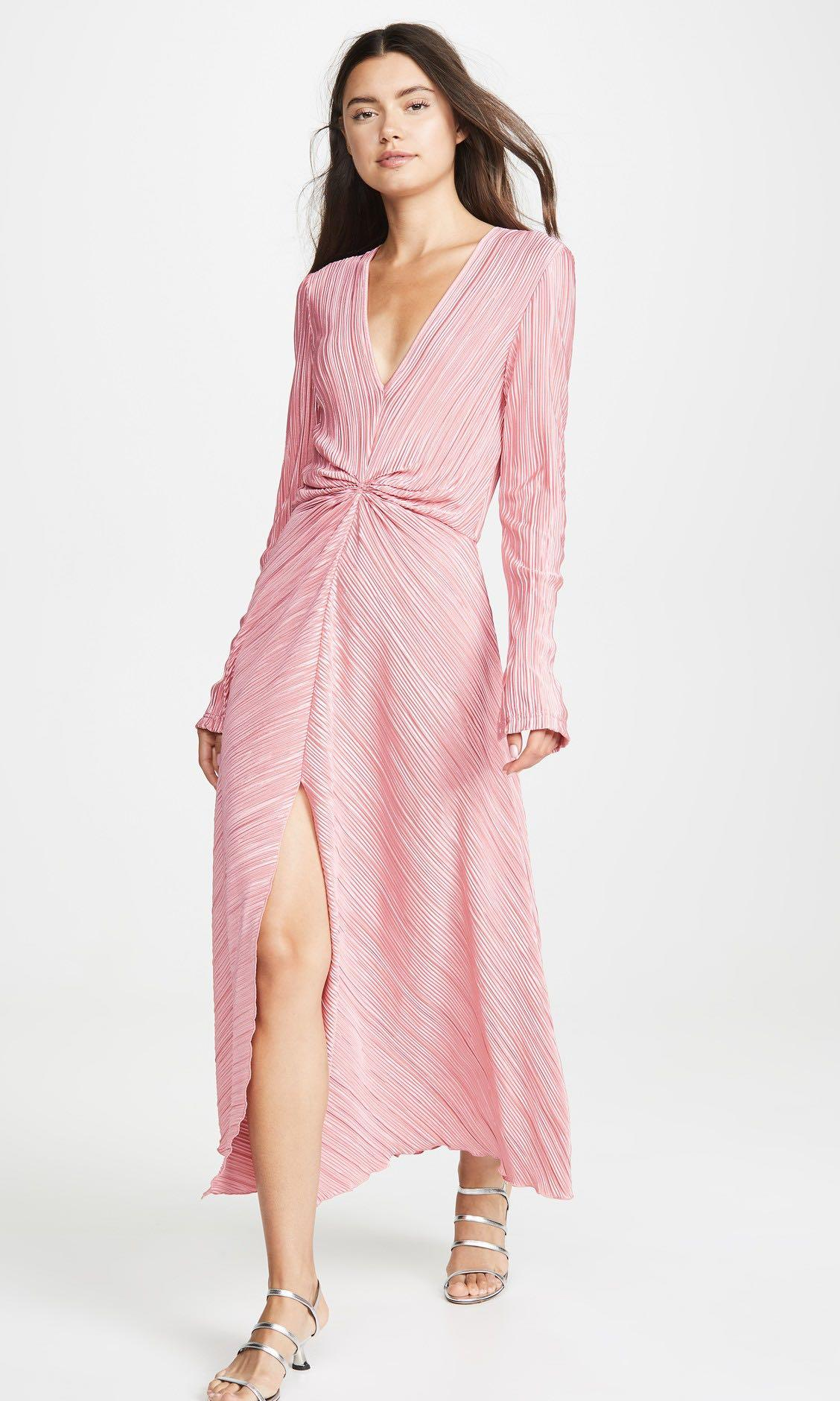 Rotate by Birger Christensen Number 7 Pleated Dress