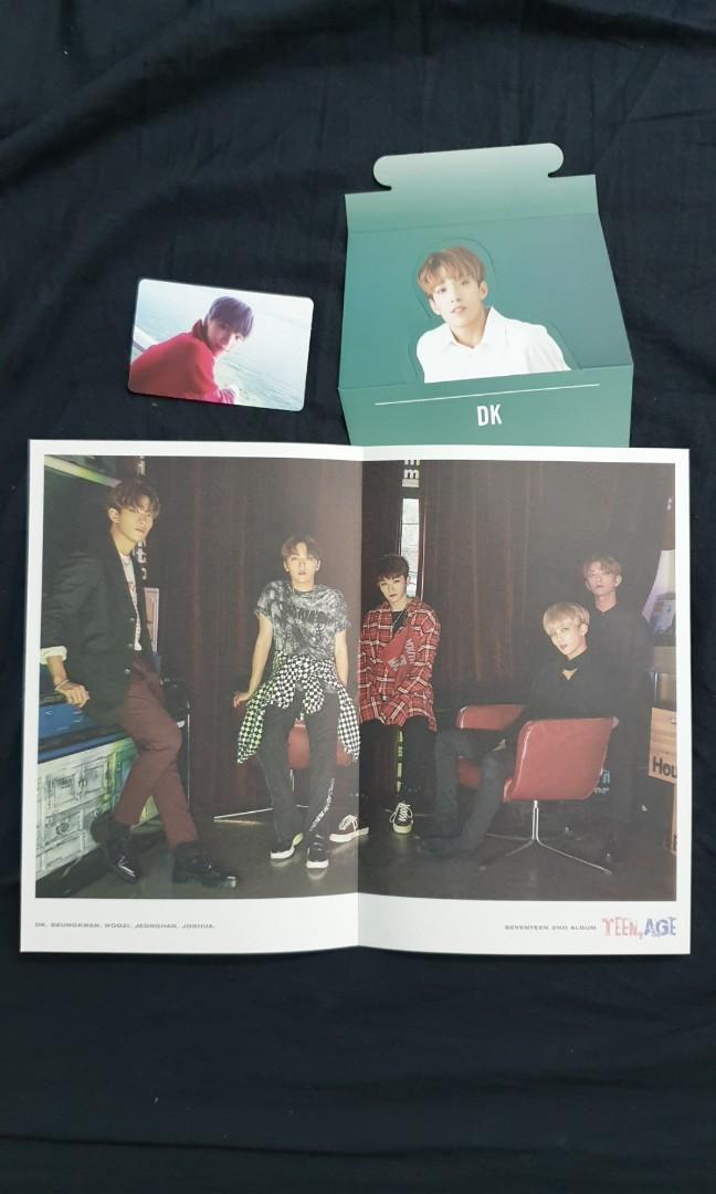 Seventeen Teen Age Official PC and Mini Poster (Green Ver.)