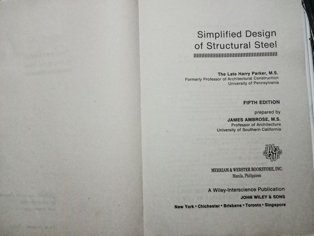 Simplified Design of Structural Steel (Fifth Edition) by Harry Parker, James Ambrose