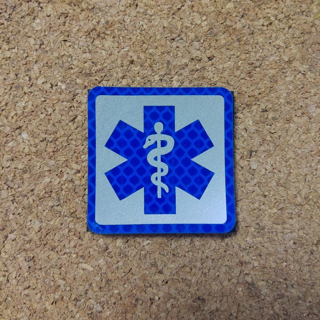 """""""急救醫護""""系列-藍生命之星魔術貼章,頭盔,背囊,反光衣,戰術背心可用"""
