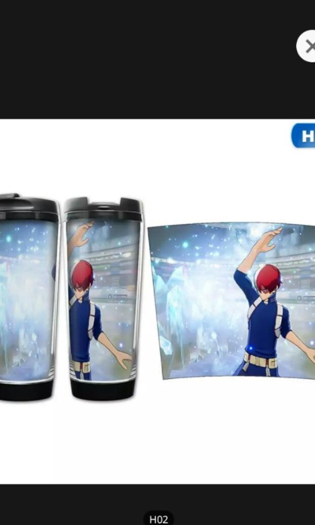 Super popular anime my hero academia large capacity bottle