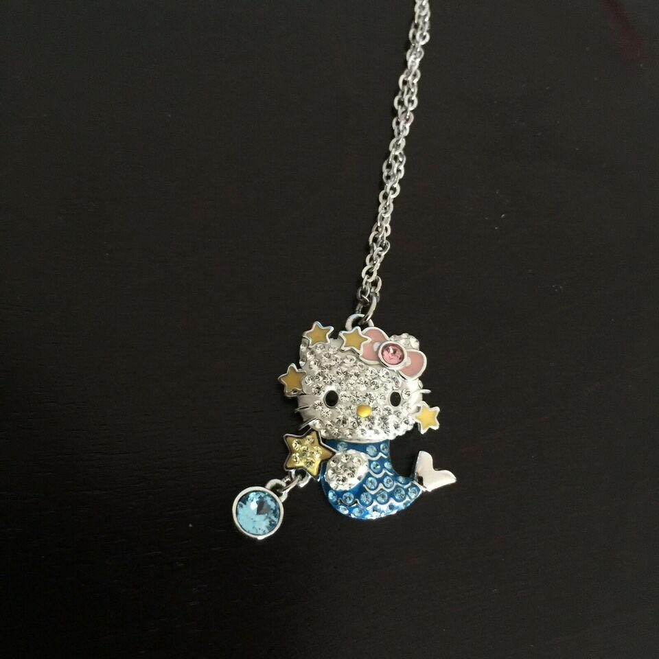 Swarovski Hello Kitty Crystal & Rhodium Pendant/Necklace