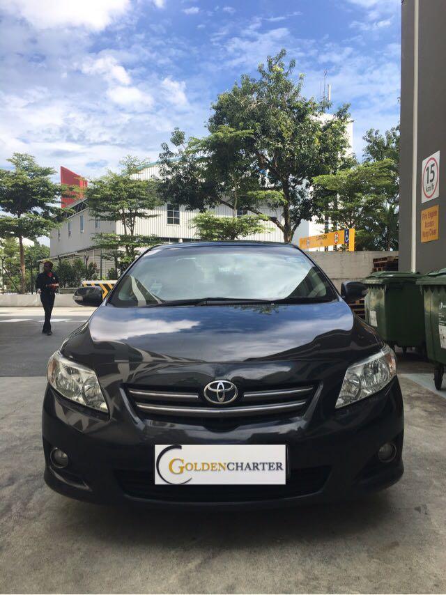 Toyota Altis For Rent, weekly gojek rental rebate applicable