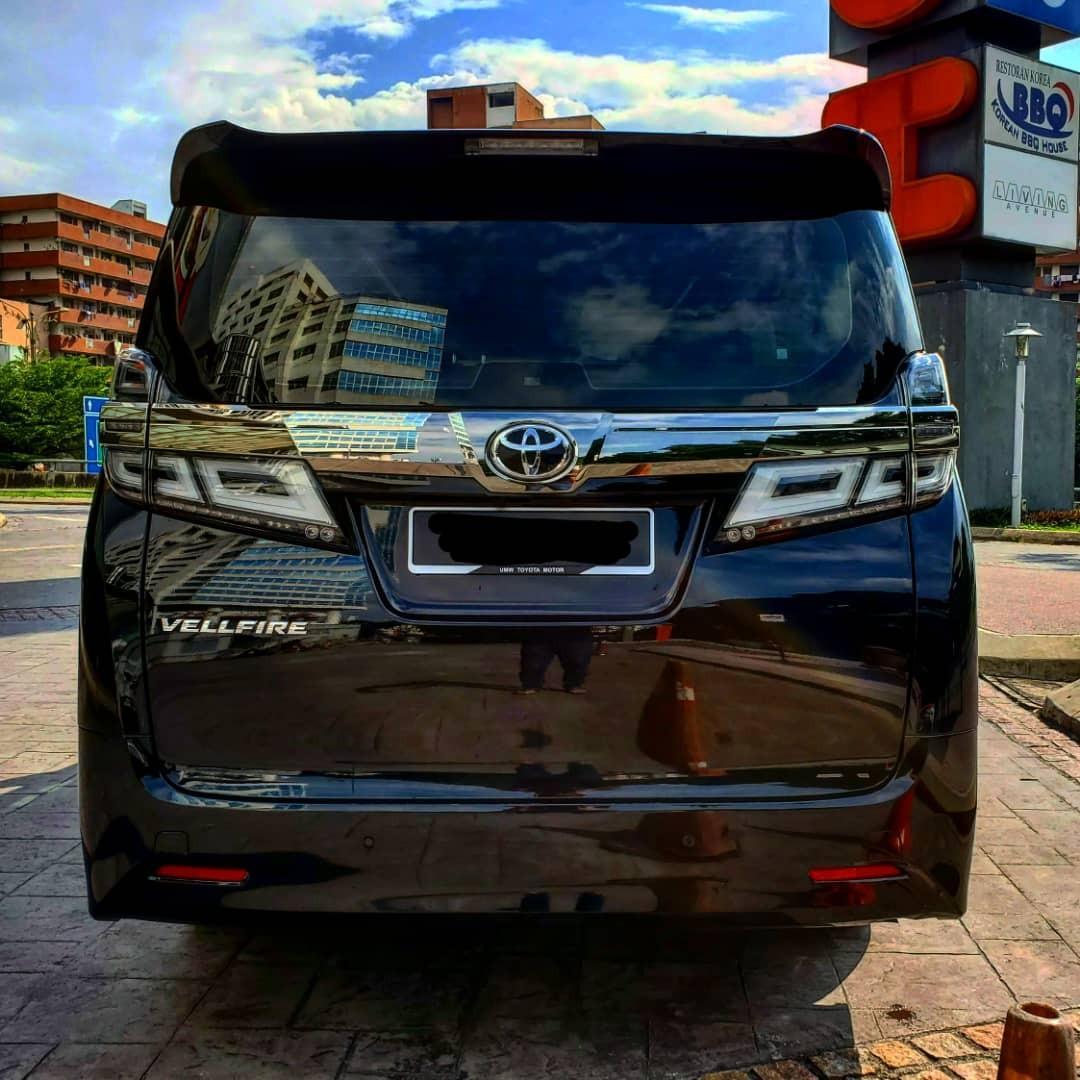 TOYOTA VELLFIRE 2.5  NEW SHOWROOM CAR LATEST MODEL FACELIFT  YEAR 2019 SAMBUNG BAYAR BERDEPOSIT/CONTINUE LOAN
