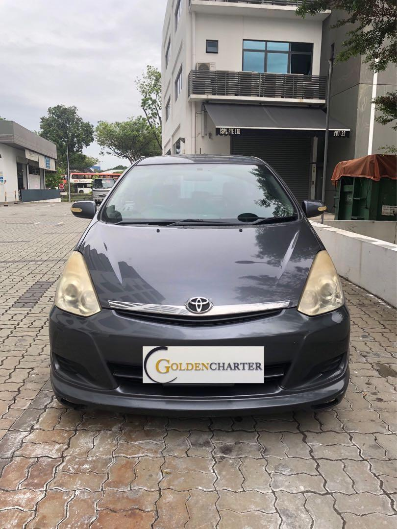Toyota Wish for rent. Weekly rental rebate applicable.